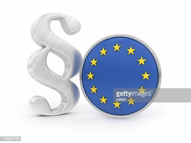 Absatz mit EU-Flagge