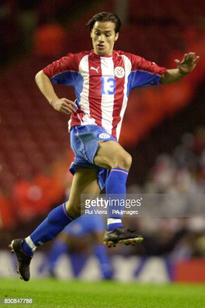 Paraguay's Carlops H Paredes during the international friendly clash between England v Paraguay at Anfield THIS PICTURE CAN ONLY BE USED WITHIN THE...