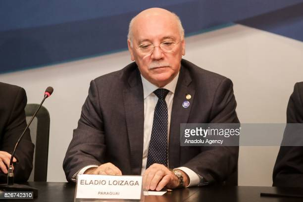 Paraguay's Foreign Minister Eladio Loizaga attends a meeting on South American trade bloc Mercosur to suspend Venezuela for failing to follow...