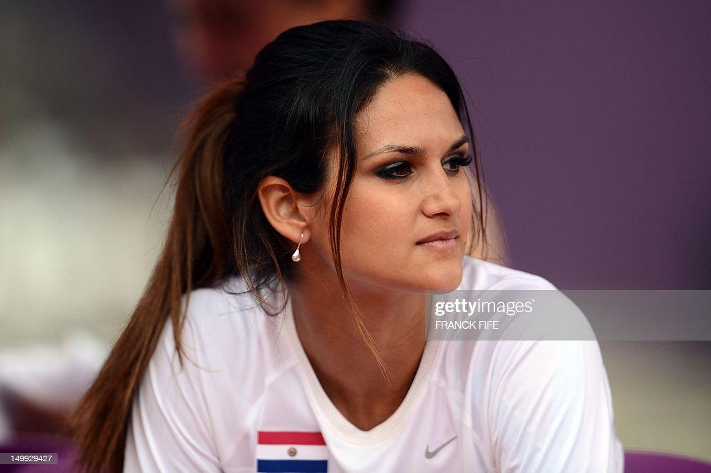 Paraguay s leryn franco looks on while competing in the women s