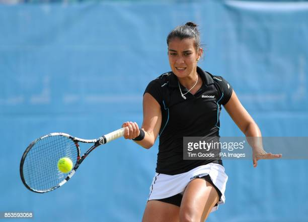 Paraguay's Veronica Cepede Royg in action against Great Britain's Katie Boulter during the AEGON Nottingham Challenge at The Nottingham Tennis Centre...