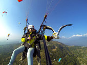 In Nepal,the travelers go paragliding in Pokhara,but only very few of them go parahawking.The parahawking is when you go paragliding on the sky,you feed a hawk and fly with it.This project was nearly