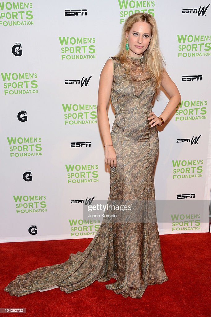 Paralympian Aimee Mullins attends the 33rd Annual Salute To Women In Sports Gala at Cipriani Wall Street on October 17, 2012 in New York City.