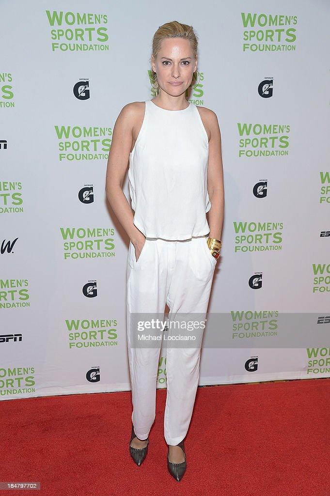 Paralympian <a gi-track='captionPersonalityLinkClicked' href=/galleries/search?phrase=Aimee+Mullins&family=editorial&specificpeople=650180 ng-click='$event.stopPropagation()'>Aimee Mullins</a> attends the 34th annual Salute to Women In Sports Awards at Cipriani, Wall Street on October 16, 2013 in New York City.