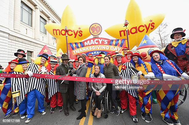 Paralympian Athlete Tatyana McFadden and TV personality Al Roker take part in the ribboncutting ceremony kicking off the 90th Annual Macy's...