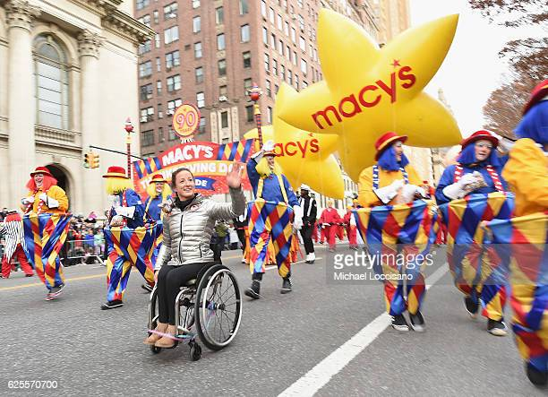Paralympian Athlete Tatyana McFadden takes part in the 90th Annual Macy's Thanksgiving Day Parade on November 24 2016 in New York City
