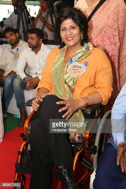 Paralympian Deepa Malik during the launch of Neele Pankh an initiative by Police Families Welfare Society to make sports a reality for children of...