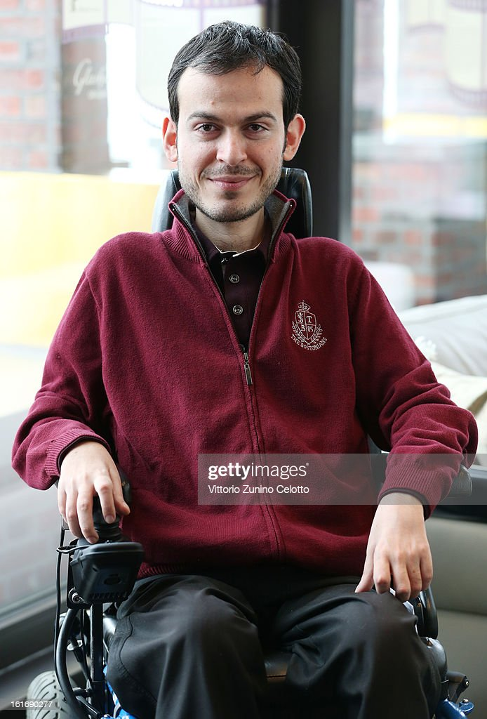 Paralympian Greg Polychronidis attends a portrait session during the 63rd Berlinale International Film Festival at Glashuette Lounge on February 14, 2013 in Berlin, Germany. The film 'My Way To Olympia' is directed by Niko von Glasow.