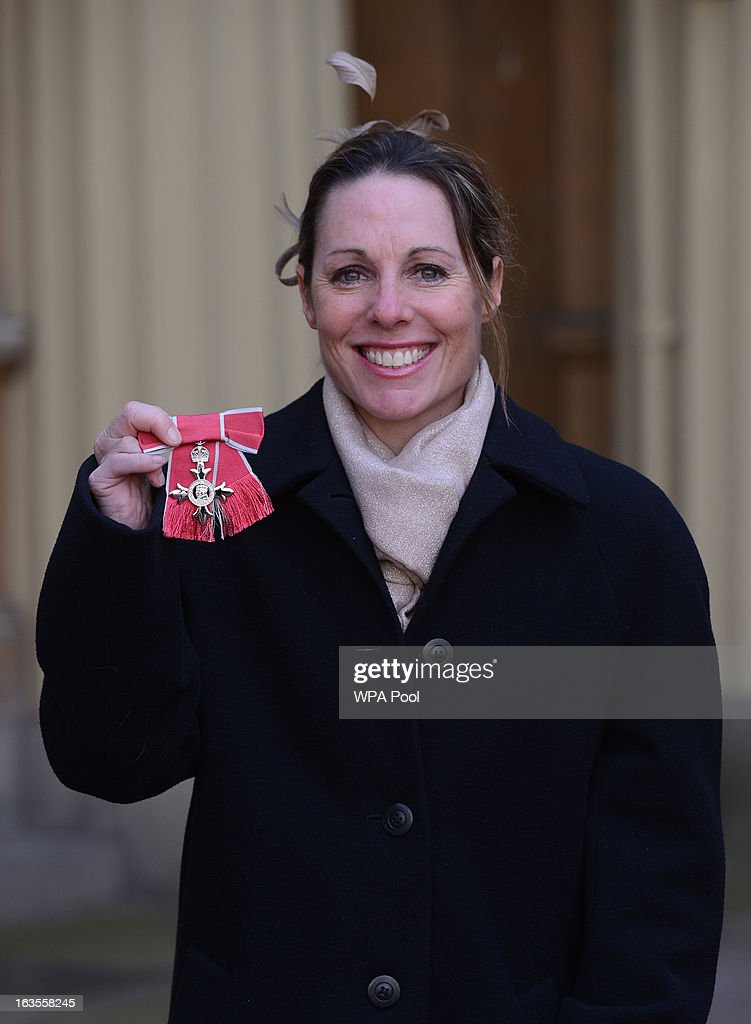Paralympian Helena Lucas at Buckingham Palace where she received an MBE during an investiture ceremony on March 12, 2013 in London, England.
