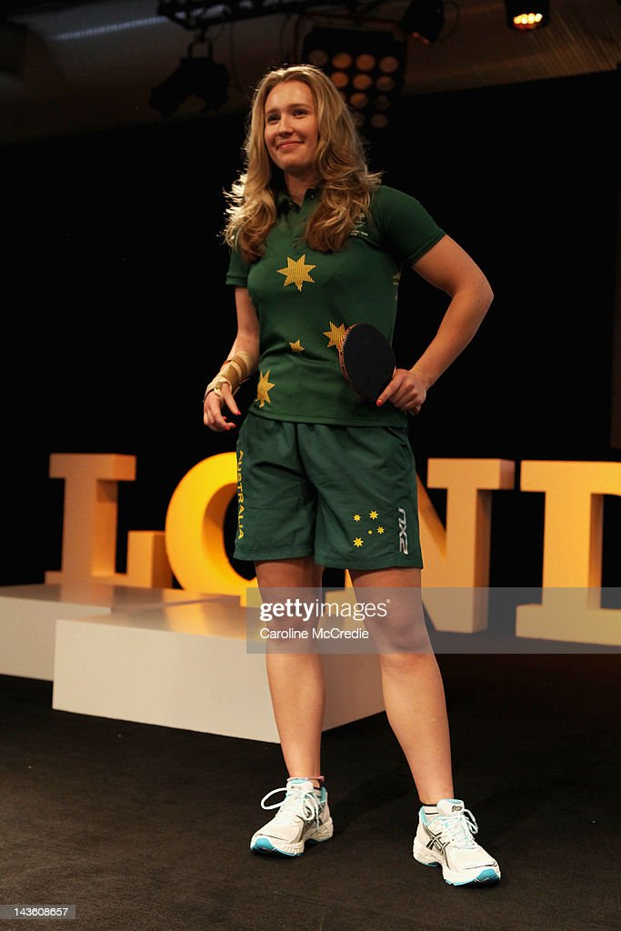 Paralympian Melissa Tapper showcases the 2012 Australian Paralympic team uniform on the catwalk on day two of Mercedes-Benz Fashion Week Australia Spring/Summer 2012/13 at Overseas Passenger Terminal on May 1, 2012 in Sydney, Australia.