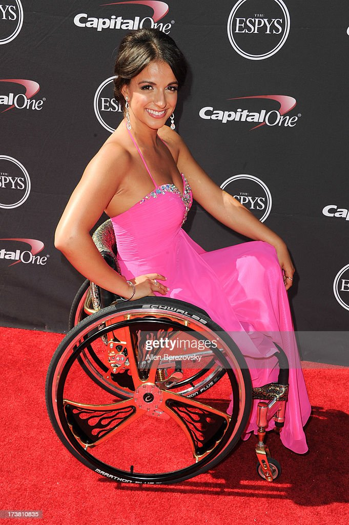Paralympian Victoria Arlen arrives at the 2013 ESPY Awards at Nokia Theatre L.A. Live on July 17, 2013 in Los Angeles, California.