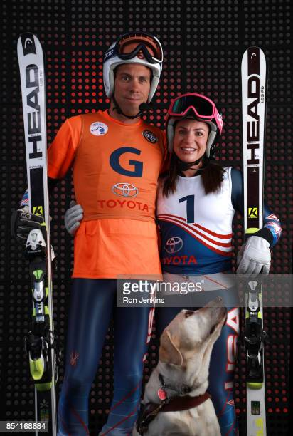 Paralympic Alpine Skier Danelle Umstead poses for a portrait with her guide husband Rob Umstead during the Team USA Media Summit ahead of the...