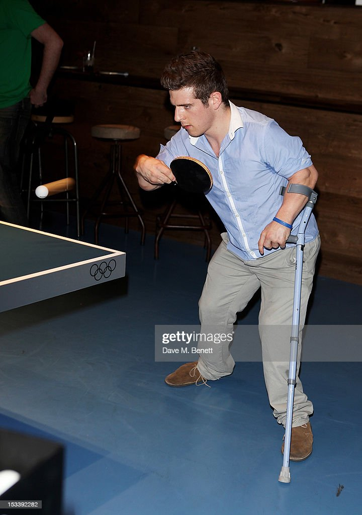 Paralympic athlete David Wetherill attends the launch of Bounce, Holborn's new Ping Pong club, on October 4, 2012 in London, England.