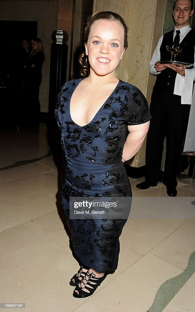 Paralympic athlete Ellie Simmonds attends the Harper's Bazaar Women of the Year Awards 2012, in association with Estee Lauder, Harrods and Tiffany & Co., at Claridge's Hotel on October 31, 2012 in London, England.