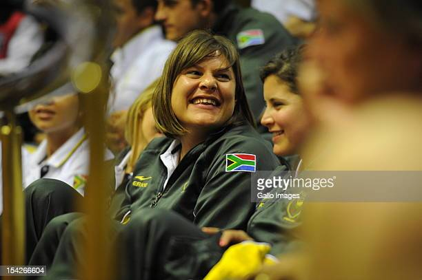 Paralympic athlete Natalie du Toit attends a special sitting in the National Assembly in Parliament on October 16 2012 in Cape Town South Africa...