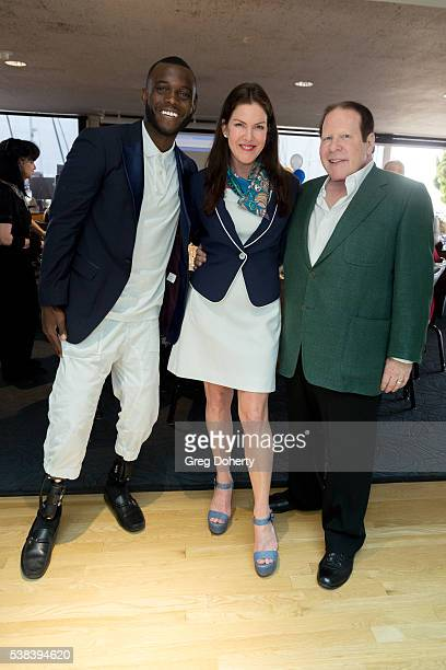Paralympic Athlete Patrick Blake Leeper Actress Kira Reed Lorsch and businessman entrepreneur and philanthropist Bob Lorsch attend The Thalians...