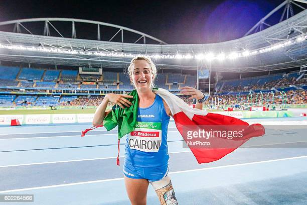 Paralympic Games Rio 2016 Women's long Jump T42 Martina Caironi competes in the womens long jump final at Stadio Olimpico João Havelange on September...