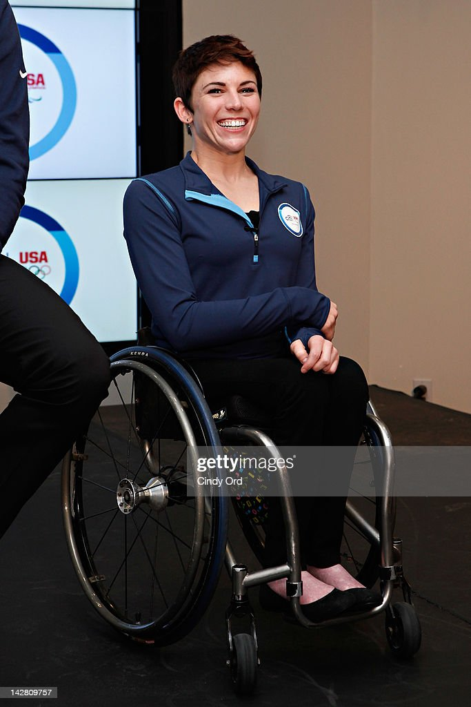Paralympic gold medalist Amanda McGrory attends the Citi's Team USA Sponsorship Launch at Citibank on April 12, 2012 in New York City.