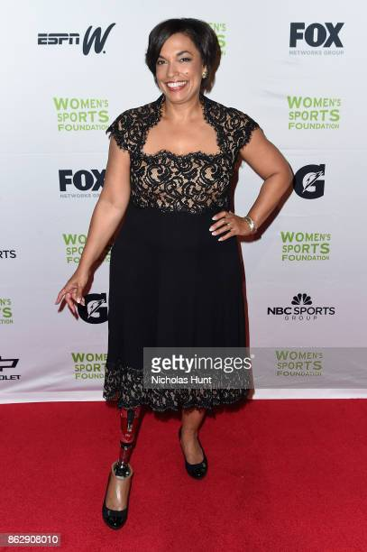 Paralympic Skier Bonnie St John attends the The Women's Sports Foundation's 38th Annual Salute To Women in Sports Awards Gala on October 18 2017 in...