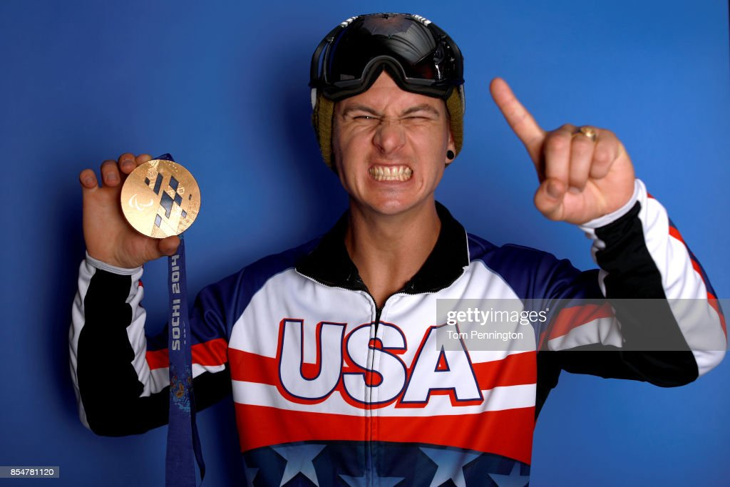 Paralympic Snowboarder Evan Strong poses for a portrait during the Team USA Media Summit ahead of the PyeongChang 2018 Olympic Winter Games on September 27, 2017 in Park City, Utah.