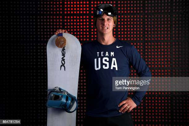 Paralympic Snowboarder Evan Strong poses for a portrait during the Team USA Media Summit ahead of the PyeongChang 2018 Olympic Winter Games on...