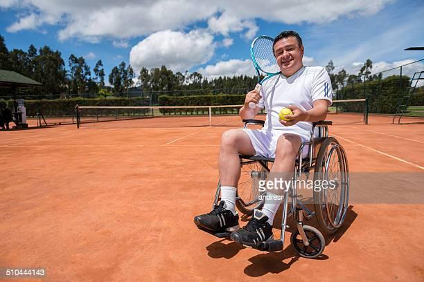 Paralympiques Joueur de tennis