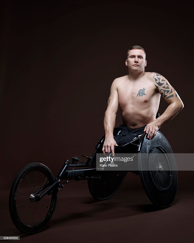 Paralympic wheelchair athlete David Weir is photographed for the Guardian on August 18, 2010 in London, England.
