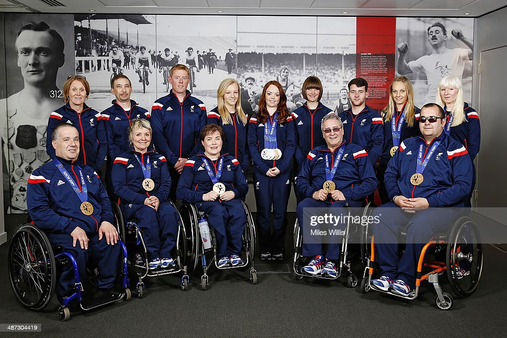 ParalympicsGB athletes gather to celebrate their performances at the Sochi 2014 Winter Paralympics at the British Paralympics Association headquarters in London, England on April 29, 2014.