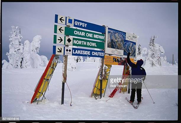 Paramedic at Ski Slope Map