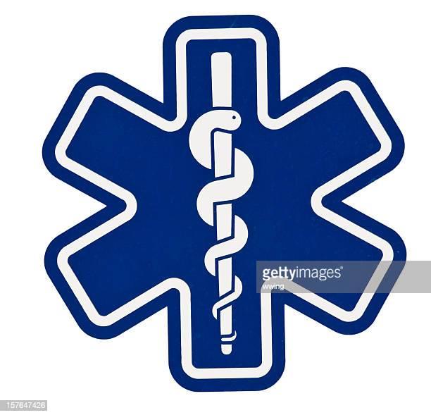 Auxiliaire médical symbole. Tracé de détourage