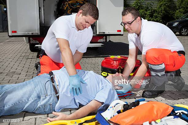 Paramedics medical equipment emergency first aid trauma check