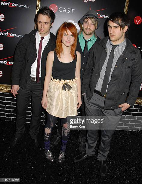 Paramore arrives at the Verizon Wireless and People party held at Avalon Hollywood on February 8 2008 in Hollywood California