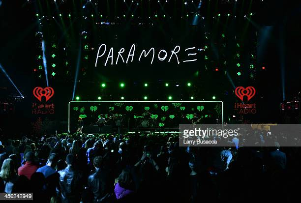 Paramore performs onstage during Z100's Jingle Ball 2013 presented by Aeropostale at Madison Square Garden on December 13 2013 in New York City