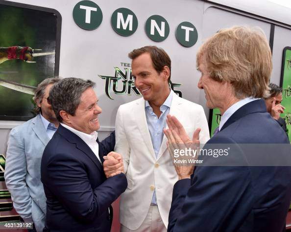 Paramount Film Group President Adam Goodman Paramount Pictures Chairman/CEO Brad Grey actor Will Arnett and producer Michael Bay attend the premiere...