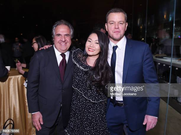 Paramount Pictures CEO Jim Gianopulos and actors Hong Chau and Matt Damon attend the after party for the New York screening of 'Downsizing' at...