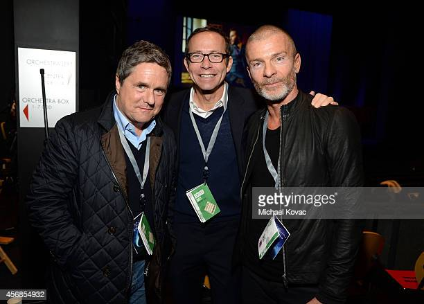 Paramount Pictures Chairman and CEO Brad Grey CAA Motion Picture Literary President/Agent Richard Lovett and NV Investments' Aviv Nevo attend the...