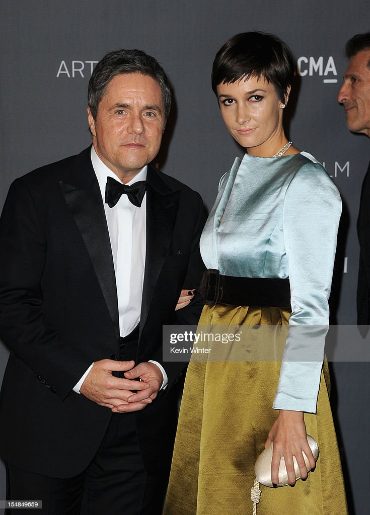 Paramount Pictures Chairman & CEO Brad Grey and Cassandra Huysentruyt arrive at LACMA 2012 Art + Film Gala at LACMA on October 27, 2012 in Los Angeles, California.