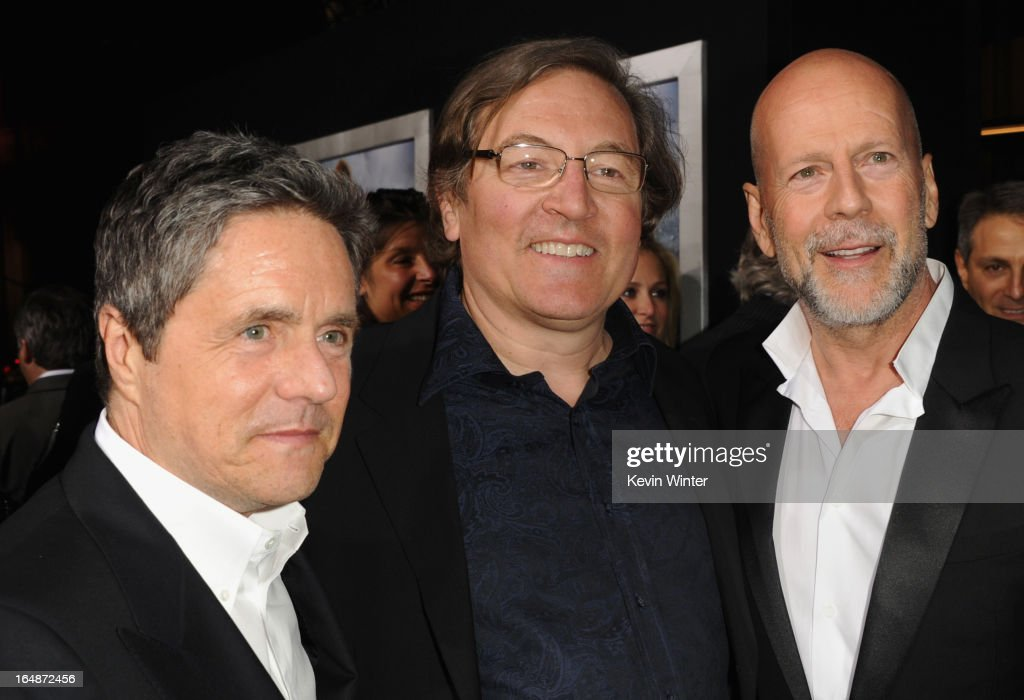 Paramount Pictures Chairman & CEO Brad Grey, producer Lorenzo di Bonaventura and actor Bruce Willis attend the premiere of Paramount Pictures' 'G.I. Joe:Retaliation' at TCL Chinese Theatre on March 28, 2013 in Hollywood, California.