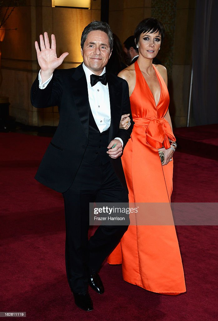 Paramount Pictures Chairman/CEO Brad Grey (L) and Cassandra Huysentruyt Grey depart the Oscars at Hollywood & Highland Center on February 24, 2013 in Hollywood, California.