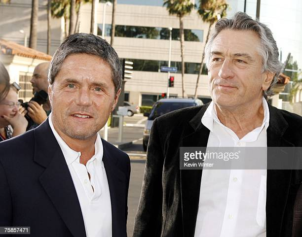 Paramount's Brad Grey and actor Robert De Niro arrive at the premiere of Paramount Picture's 'Stardust' at the Paramount Studio Theater on July 29...
