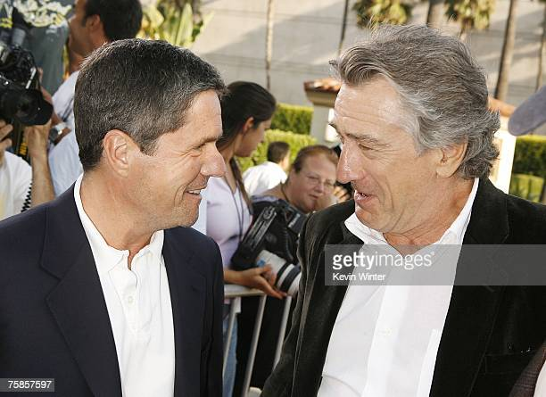 Paramount's Brad Grey and actor Robert De Niro chat at the premiere of Paramount Picture's 'Stardust' at the Paramount Studio Theater on July 29 2007...