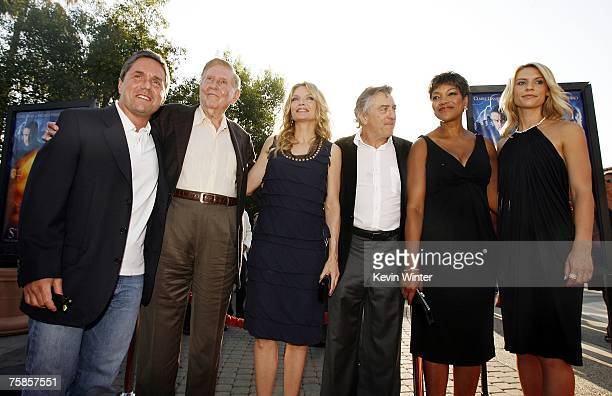 Paramount's Brad Grey Viacom's Sumner Redstone actress Michelle Pfeiffer actor Robert De Niro and his wife Grace Hightower and actress Claire Danes...