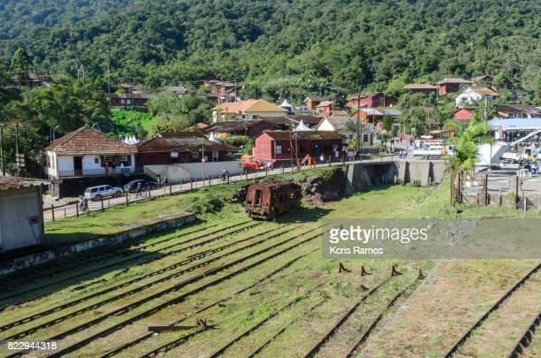 Paranapiacaba railroad yard and its old trains
