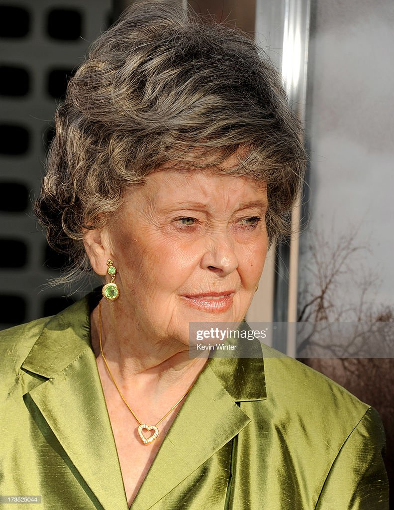 Paranormal investigator Lorraine Warren arrives at the premiere of Warner Bros. 'The Conjuring' at the Cinerama Dome on July 15, 2013 in Los Angeles, California.