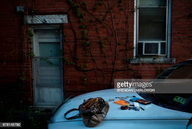 Paraphernalia for smoking and injecting drugs is seen after being found during a police search on April 19 2017 in Huntington West Virginia...