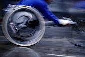 Paraplegic athlete