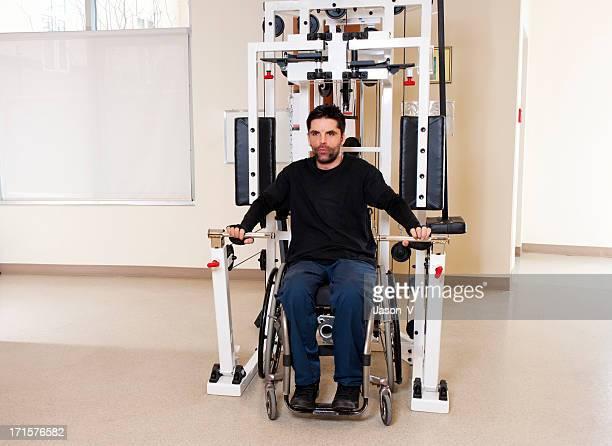 Paraplegic Exercising