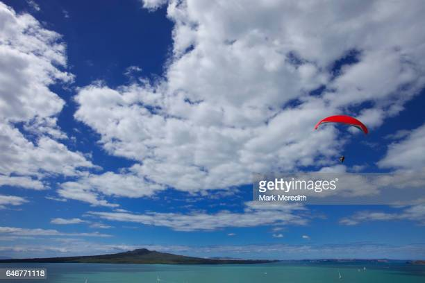 Parasailing over the Waitemata Harbour