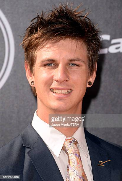 Parasnowboard cross racer Evan Strong attends The 2014 ESPYS at Nokia Theatre LA Live on July 16 2014 in Los Angeles California