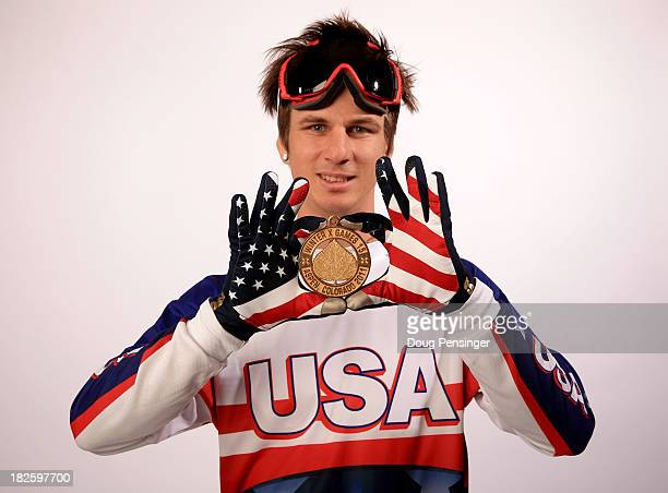 ParaSnowboarder Evan Strong poses for a portrait during the USOC Media Summit ahead of the Sochi 2014 Winter Olympics on October 1 2013 in Park City...